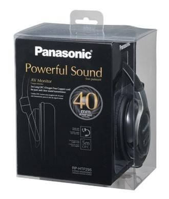 Наушники Panasonic RP-HTF295E-K черный - фото 2