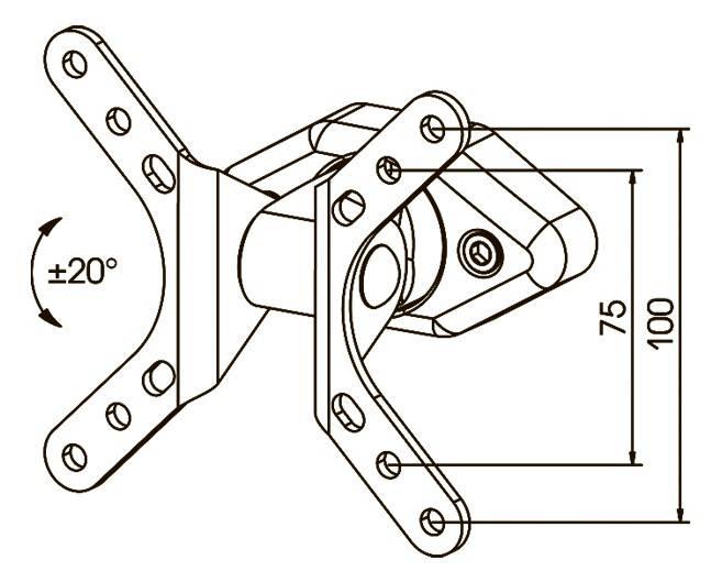 Кронштейн для телевизора Kromax DIX-1 серый - фото 2