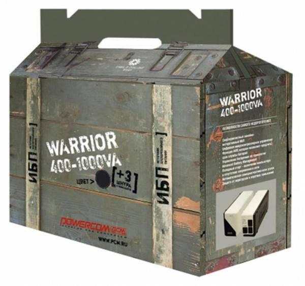 ИБП Powercom Warrior WAR-1000A 500Вт белый - фото 2
