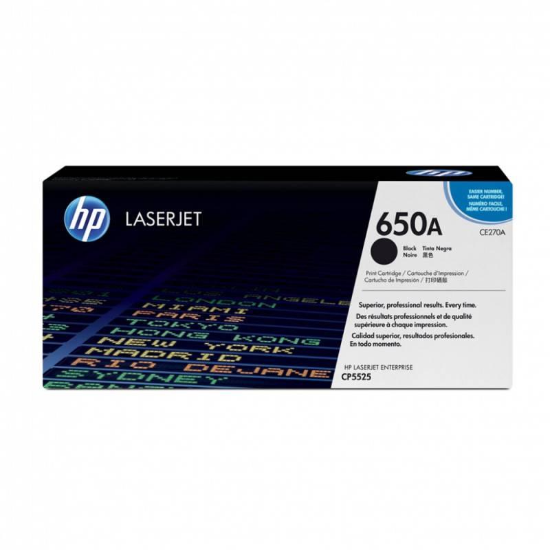 Тонер Картридж HP 650A CE270A черный - фото 1