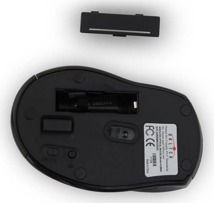 Мышь Oklick 412MW черный - фото 5