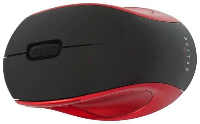Мышь Oklick 412MW черный/красный - фото 3