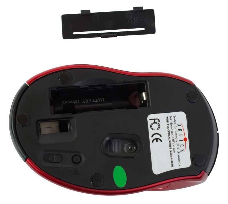 Мышь Oklick 412MW черный/красный - фото 4