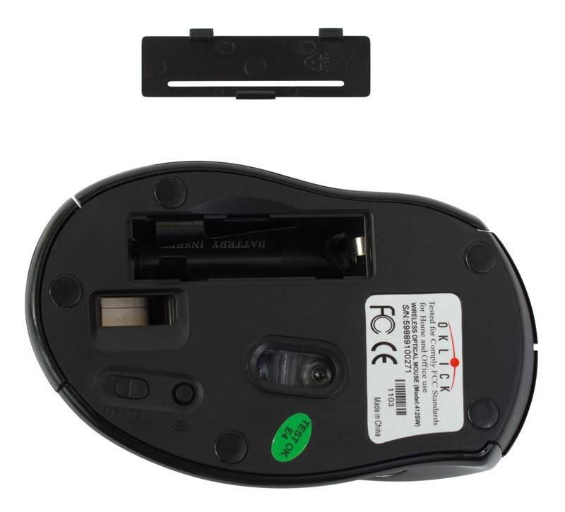Мышь Oklick 412SW черный - фото 5