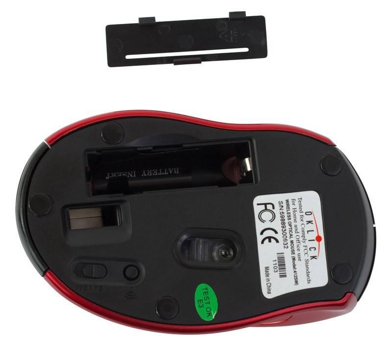 Мышь Oklick 412SW черный/красный - фото 5