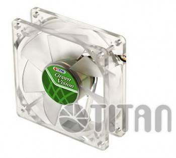 Вентилятор для корпуса TITAN TFD-8025GT12Z Green Vision