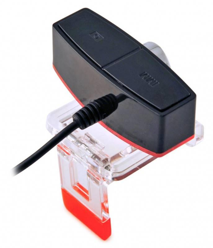 Веб-камера Oklick LC-105M черный/красный - фото 2