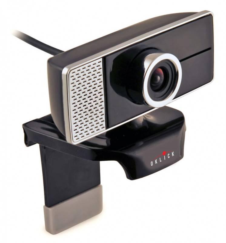 Веб-камера Oklick LC-110M черный/серебристый - фото 1