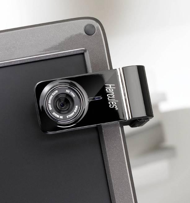 Камера Web Hercules HD720 черный - фото 5