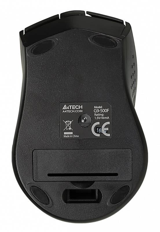 Мышь A4 V-Track G9-500F-1 черный - фото 1