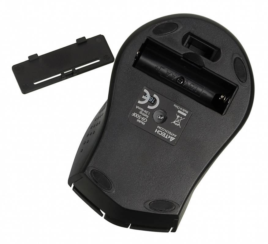 Мышь A4 V-Track G9-500F-1 черный - фото 6