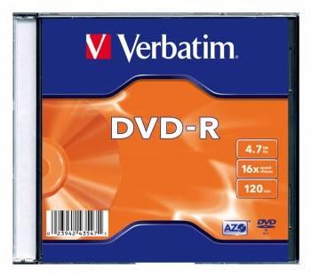 Диск DVD-R Verbatim 4.7Gb 16x (20шт) (43547)