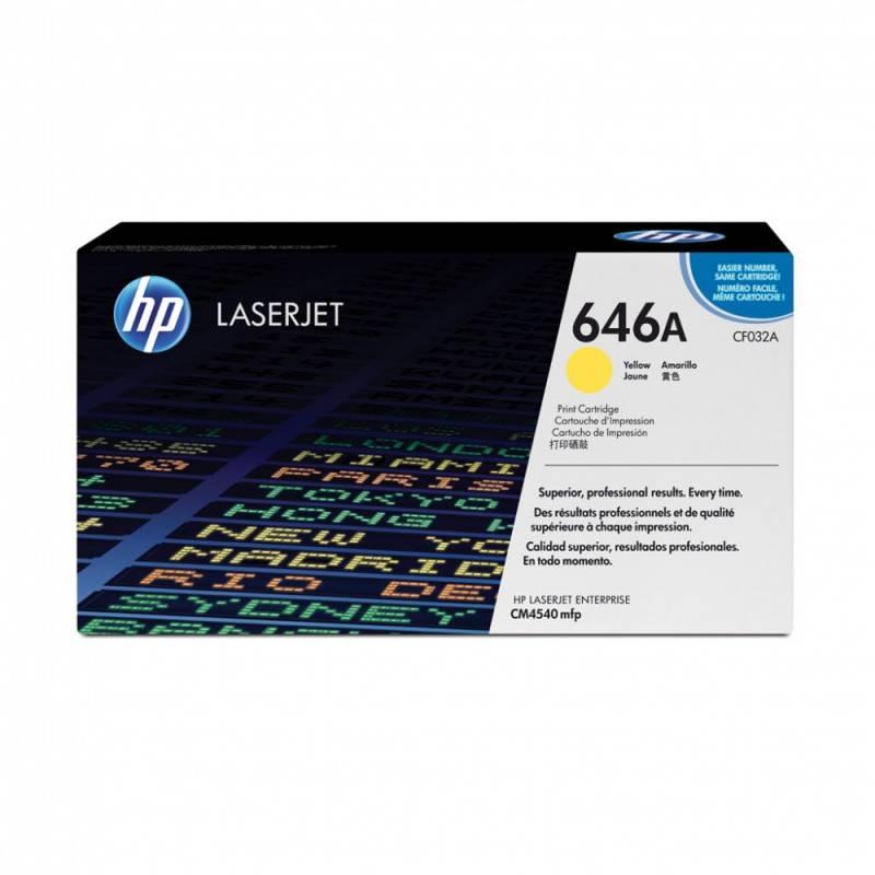 Картридж HP CF032A желтый - фото 1