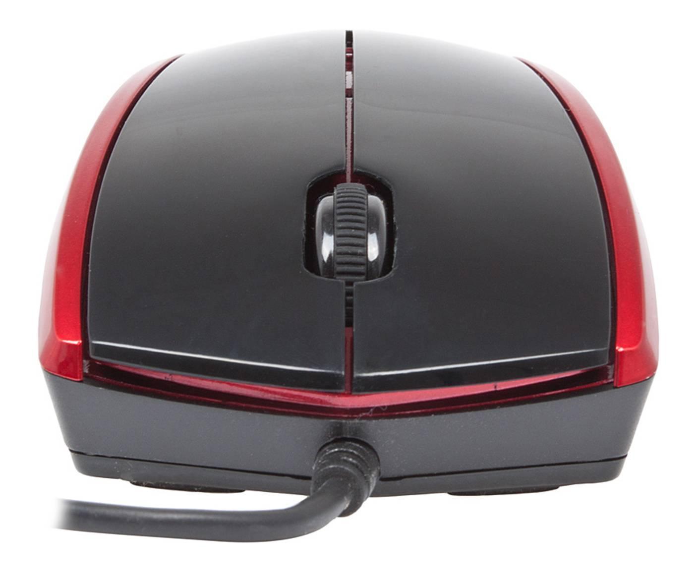 Мышь A4 V-Track Padless N-400-2 черный/красный - фото 5
