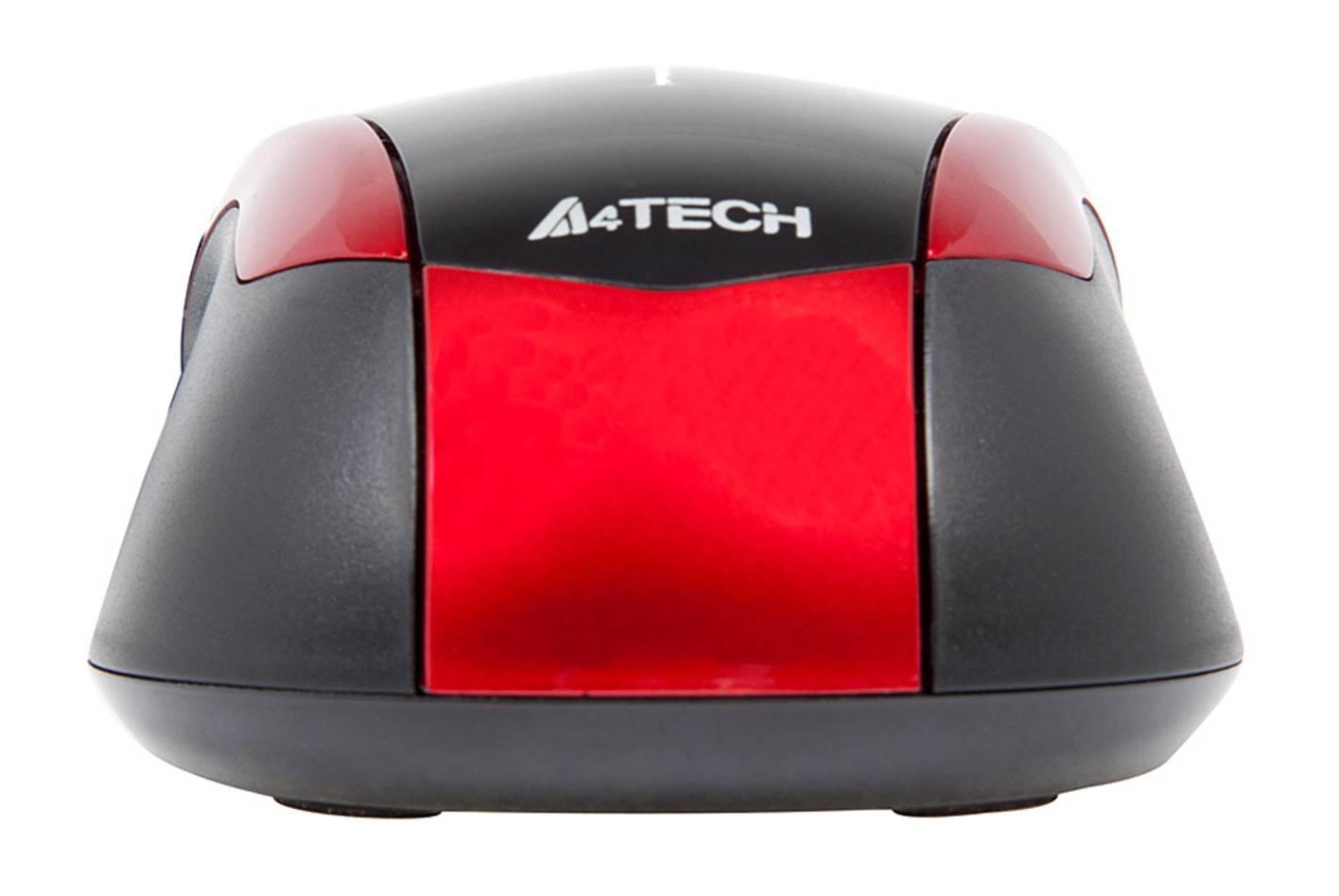 Мышь A4 V-Track Padless N-400-2 черный/красный - фото 6