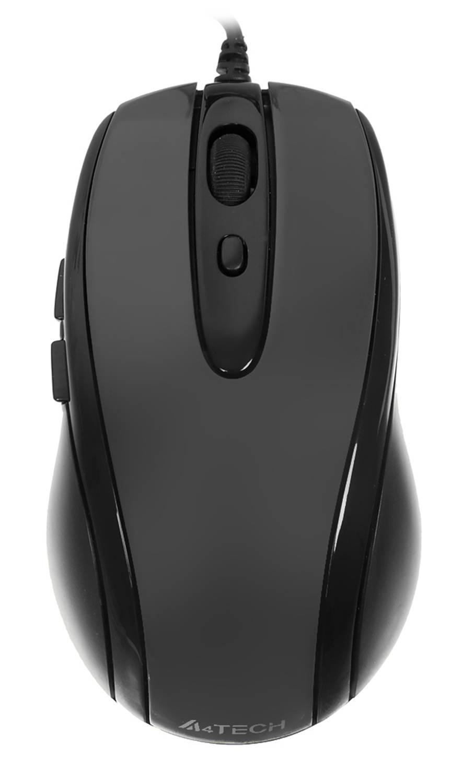 Мышь A4 V-Track Padless N-708X-1 серый - фото 1