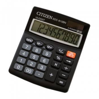 Калькулятор бухгалтерский Citizen SDC-810BN черный