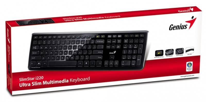 Клавиатура Genius SlimStar i220 черный - фото 6
