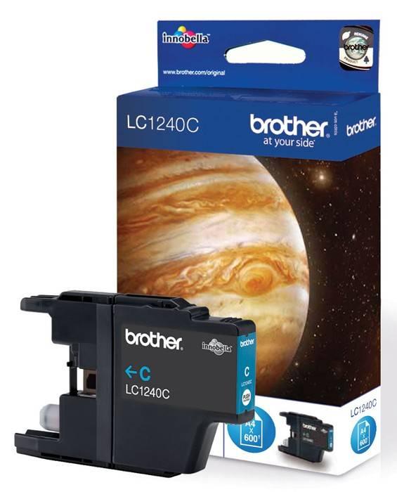 Картридж струйный Brother LC1240C голубой - фото 1
