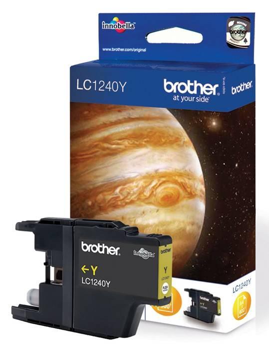 Картридж струйный Brother LC1240Y желтый - фото 1