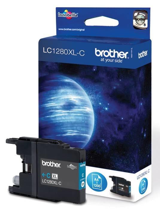 Картридж струйный Brother LC1280XLC голубой - фото 1