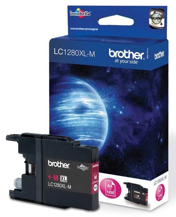 Картридж струйный Brother LC1280XLM пурпурный - фото 1