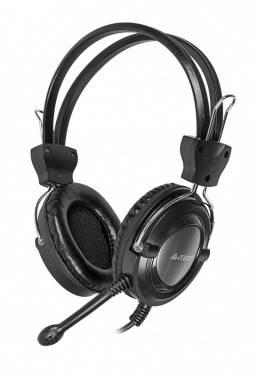 Наушники с микрофоном A4 HS-19 серебристый/черный (HS-19-1)