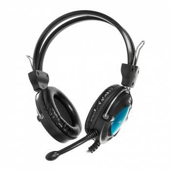 Наушники с микрофоном A4 HS-19 черный / голубой