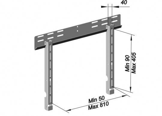 Кронштейн для телевизора Holder PFS-4010 металлик - фото 2