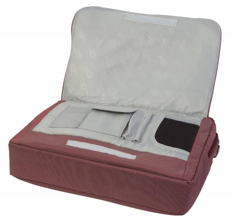"Сумка для ноутбука 15.4"" PC Pet PCP-Q9015N бордовый - фото 7"