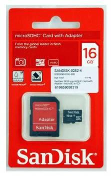 Карта памяти microSDHC 16Gb Class4 Sandisk Mobile SDSDQM-016G-B35A
