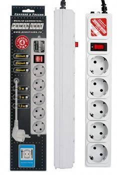 Сетевой фильтр Powercube SPG-B-6 1.9м серый