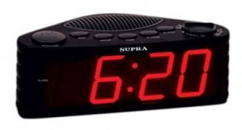 Радиобудильник Supra SA-30FM черный