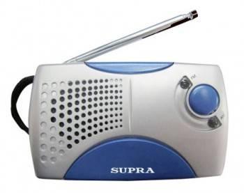 Радиоприемник Supra ST-113 серебристый/синий
