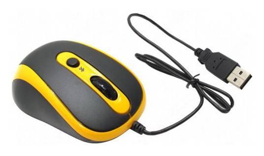 Мышь A4 N-250X желтый - фото 3