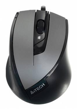 Мышь A4 V-Track Padless N-600X-2 серый