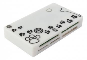 Картридер USB2.0 PC Pet CR-215DWH белый
