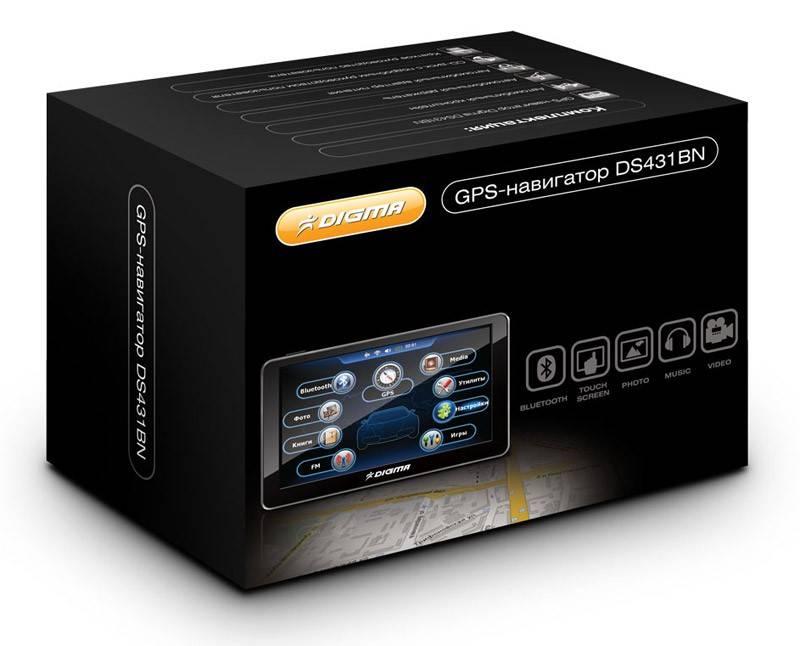 """GPS-навигатор Digma DS431BN 4.3"""" черный - фото 2"""