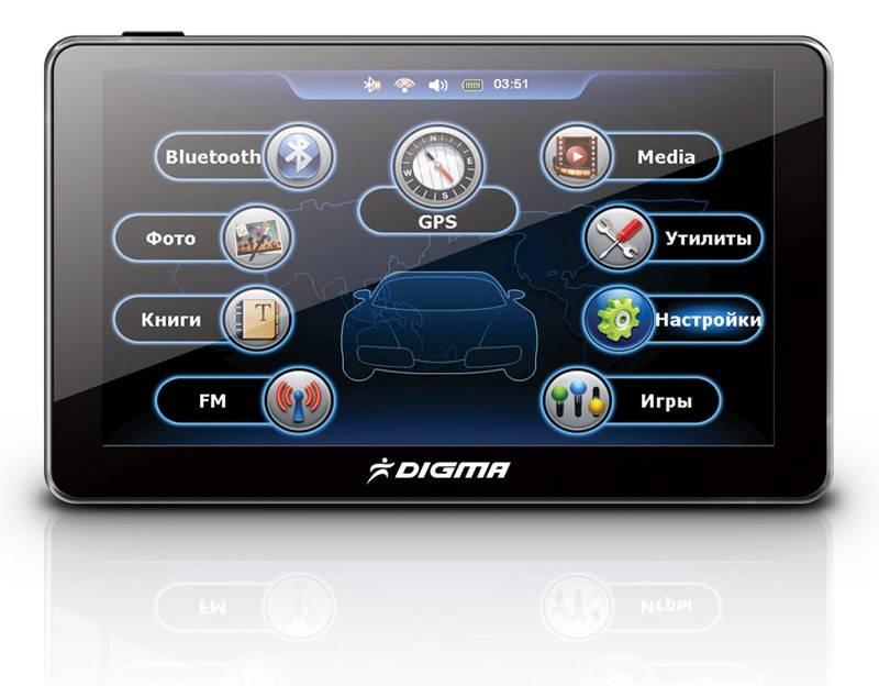"""GPS-навигатор Digma DS431BN 4.3"""" черный - фото 1"""