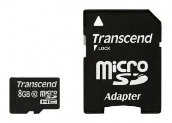 Карта памяти microSDHC 8Gb Class10 Transcend TS8GUSDHC10