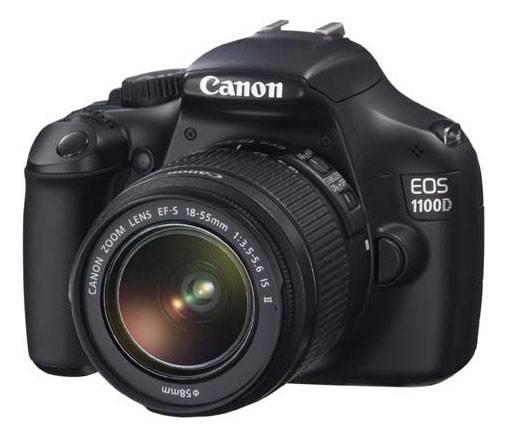 Фотоаппарат Canon EOS 1100D черный, 1 объектив EF-S 18-55 мм f/3.5 - 5.6 IS II - фото 1