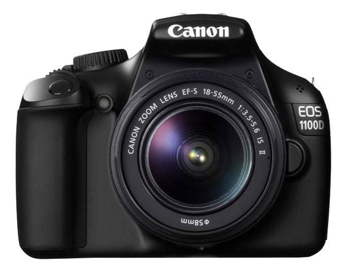 Фотоаппарат Canon EOS 1100D черный, 1 объектив EF-S 18-55 мм f/3.5 - 5.6 IS II - фото 3