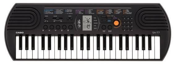 Синтезатор Casio SА-77 серый - фото 1