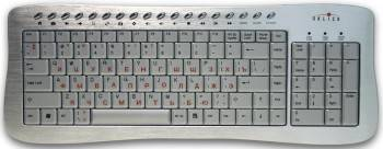 Клавиатура Oklick 380M серебристый