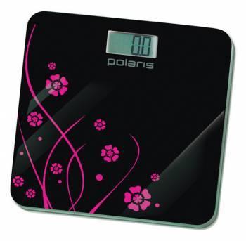 Весы напольные электронные Polaris PWS1523DG черный / рисунок