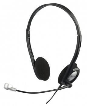Наушники с микрофоном Oklick HS-M142V черный / серебристый