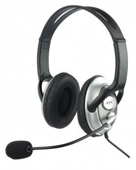 Наушники с микрофоном Oklick HS-M131V серебристый / черный