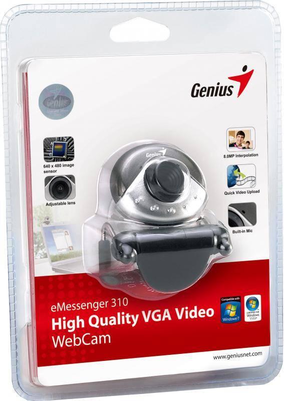 Веб-камера Genius E-Messenger 310 серый - фото 4
