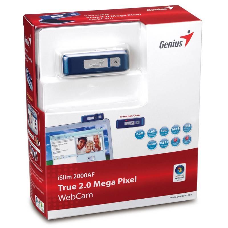 Веб-камера Genius iSlim 2000 AF + флешка 2Гб синий - фото 3