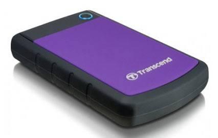 Внешний жесткий диск 1Tb Transcend TS1TSJ25H3P StoreJet 25H3P фиолетовый USB 3.0 - фото 1
